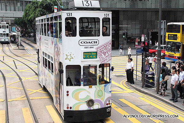 Branded Coach tram