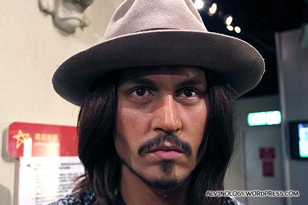 Johnny Depp - even his wax figurine possesses those piercing eyes
