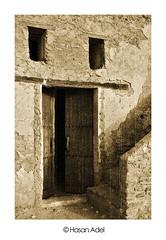 (HASAN_ADEL) Tags: door old house history canon culture saudi arabia l 24 105 450 ksa 24105        450d       ugair uqair