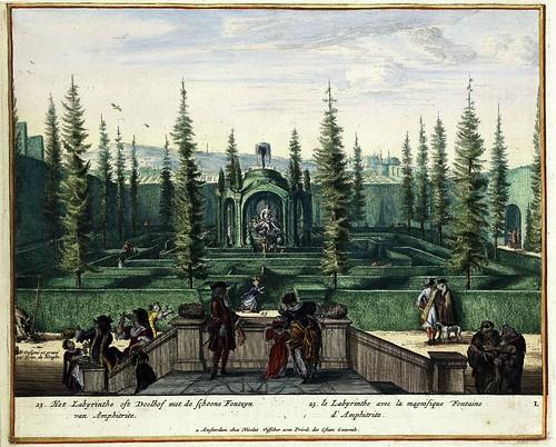 Het labyrinth oft doolhof met de schoone fonteyn van Amphitrite - Le labyrinthe avec la magnifique fontaine d Amphitriae