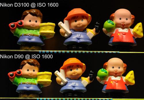 Nikon D3100 vs Nikon D90 @ ISO 1600
