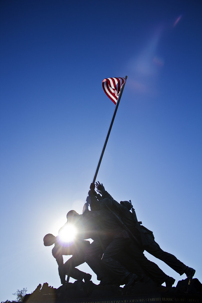 sun through iwo jima
