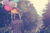 (_acido) Tags: road autumn light tree film colors girl station train vintage balloons 50mm la october soft heart bokeh c away trench un dreams di scena sembra canoneos450d