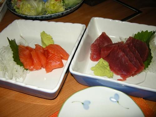salmon & maguro sashimi