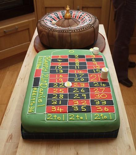 casino roulette wheel cake