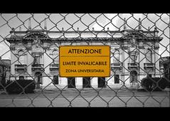 Limite invalicabile (designnostop) Tags: design no milano postcard stop politecnico facoltà ddl gelmini designnostop
