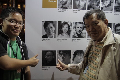 Dad and I see a familiar face among the directors of the Pusan International Film Fest 2010