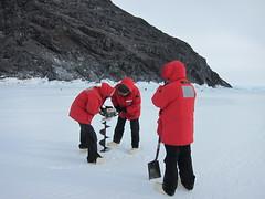jiffy drilling (sandwichgirl) Tags: antarctica icefishing 2010 mcmurdo