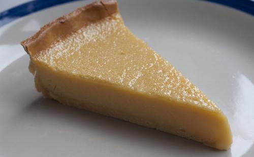 passionfruit tart slice