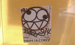Wisher's mom is crazy (Reid Harris Cooper) Tags: sticker stickerart wisher wish914