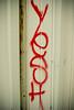 YESH (pandaramic) Tags: red white graffiti md october paint maryland baltimore spray 2010 towson yesh