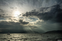 Let there be light (McHeras) Tags: sea sky storm boat nikon sailing yacht aegean nikkor vr 18105 d90        18105vr