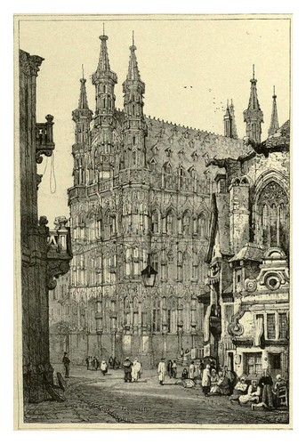 021-Louvain-Sketches by Samuel Prout in France Belgium….1915