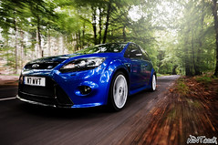 Going Out For A Blat Featuring my Blue Ford Focus RS Mk 2 (NWVT.co.uk) Tags: blue trees 2 motion cars ford car forest out for focus driving performance going automotive hoon rs mk featuring in blat a hoonage nwvt frsoc