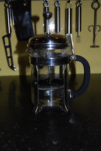 schroefje van de koffiepot...