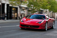 Acceleration. (Alex Penfold) Tags: london alex canon photography photo italia image picture ferrari photograph supercar supercars penfold 458 450d