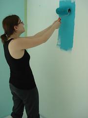 DSC00131 (Kirayuzu) Tags: wand raya farbe wohnzimmer neuewohnung streichen trkis