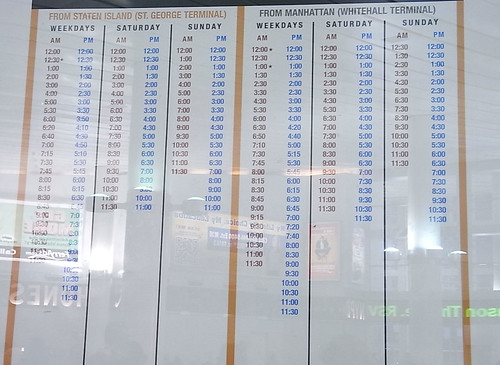 staten island ferry time table