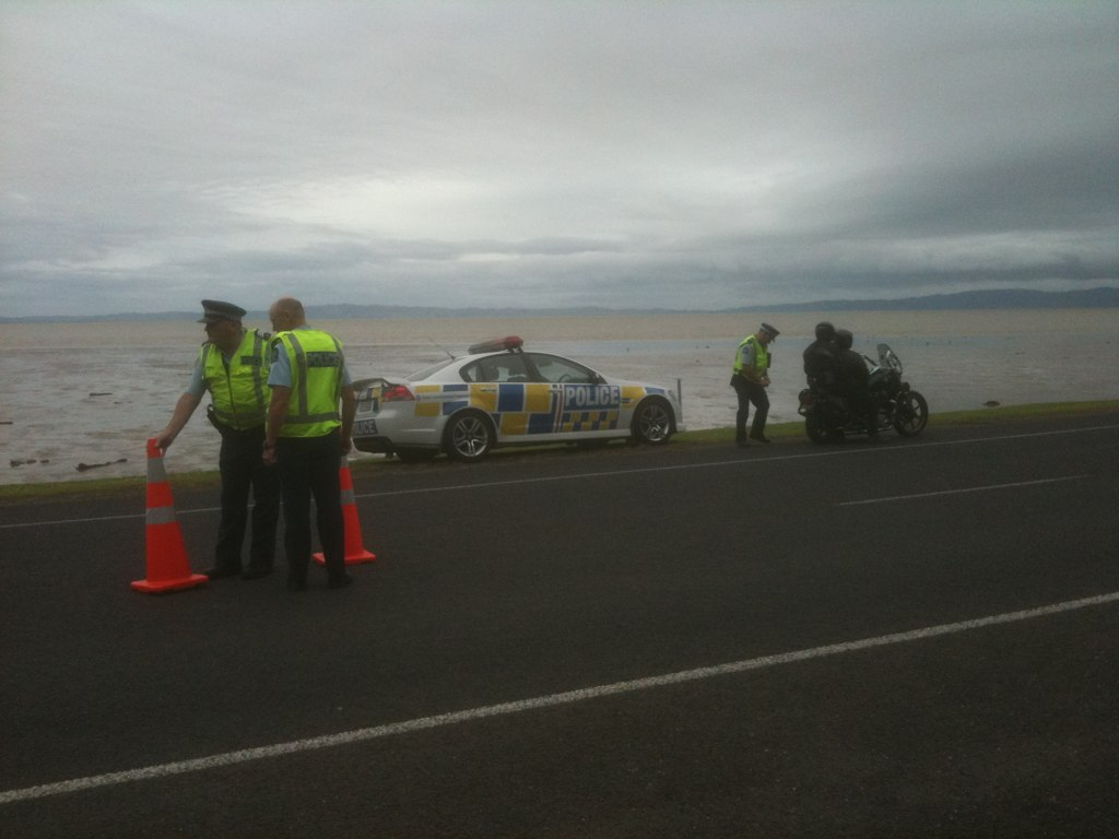 Police, Land Transport NZ, ACC & Bularangi Harley Tours - Coromandel Lockdown