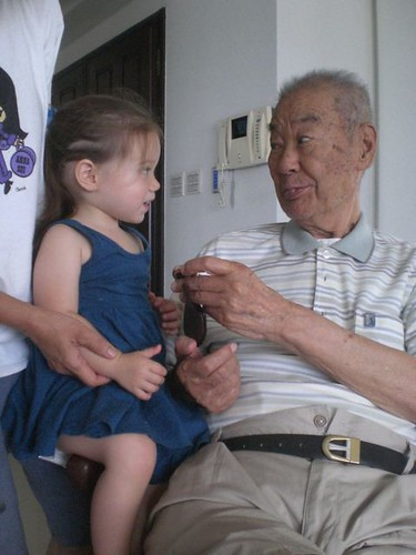 bee with great-grandpa