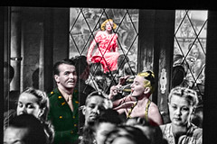 "Intrigue Abounds at ""the Lorelei"" Club in Post-War Berlin (Walker Dukes) Tags: california blue woman man black green glass beauty television germany hair soldier army gold mirror cafe screenshot glamour eyes uniform crowd dive handsome jacket mature hollywood actress movies filmstill filmstills mustache insignia diva tcm gi moviestills topaz moviestill turnerclassicmovies moviestars offlimits oldmovies picturesofthetelevision televisionshot topazadjust"