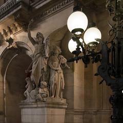 Opra de Paris (marianboulogne) Tags: city nightphotography urban sculpture paris france art architecture night lights europa europe exposure nuit pary francja