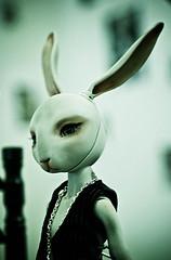 (★ ♥ Pounkie ☠ †) Tags: portrait rabbit bunny shop toy doll exhibition bjd custom custo lapin artistdoll japanexpo pinou valandra aselladolls japanexpo2010 pinougris