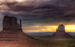 Desert Buttes (Wolfgang Staudt) Tags: travel blue red summer arizona sky usa sun mountains southwest west nature beautiful clouds america wow wonderful landscape utah nice sandstone butte roadtrip navajo monumentvalley vacancy gravel 2010 valleydrive wolfgangstaudt