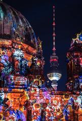 Paint the Cathedral (Tafelzwerk) Tags: nightphotography light berlin festival night germany deutschland licht nikon cathedral dom illuminated fernsehturm fest festivaloflights tvtower berlinerdom erleuchtet d3000 nikond3000 tafelzwerk tafelzwerkde