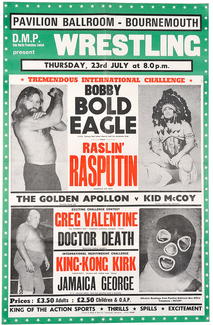 wrestling poster, bournemouth