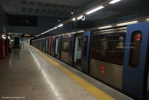 O metro chegou ao destino