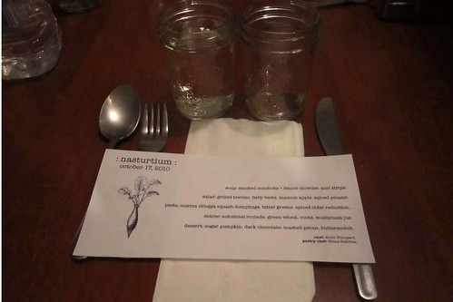 nasturtium vegan supper club