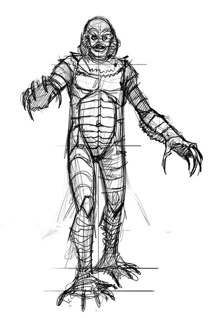 Creature From The Black Lagoon pencils