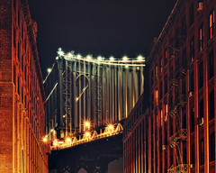 Manhattan Bridge from dumbo, New York City (andrew c mace) Tags: nyc newyorkcity bridge newyork film night dumbo slidefilm manhattanbridge epson 4x5 monorail provia largeformat cambo 100f 150mm v700 colorefex nikoncapturenx sinaron
