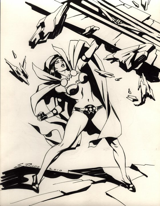 Big Barda by Steve Rude