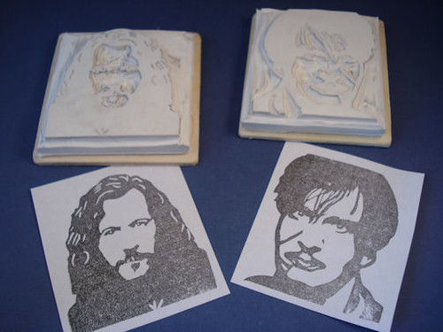 Sirius Black and Remus Lupin rubber stamps