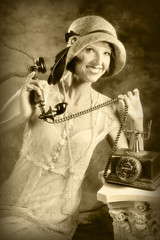 Flapper (Theresa Thompson) Tags: 1920s me sepia vintage myself postcard fake explore faux flapper selfie roaring20s