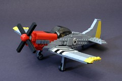 updated mustang (psiaki) Tags: plane airplane fighter lego wwii north aeroplane american mustang usaf p51 moc