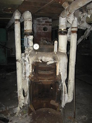 Small Residential Boiler Asbestos Insulation (Asbestorama) Tags: house home duct industrial apartment decay inspection pipe basement furnace residential survey dwelling asbestos housedemos
