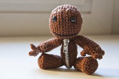 Sackboy (_Vanylla_) Tags: big little crochet planet amigurumi ganchillo littlebigplanet sackboy