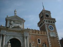DSCF0025 (lilbuttz) Tags: venice italy gate clocktower venetianarsenal accentflorencespring2002