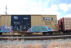 DSC_1475 (huntingtherare) Tags: train bench graffiti nave freight rollingstock ttx benching