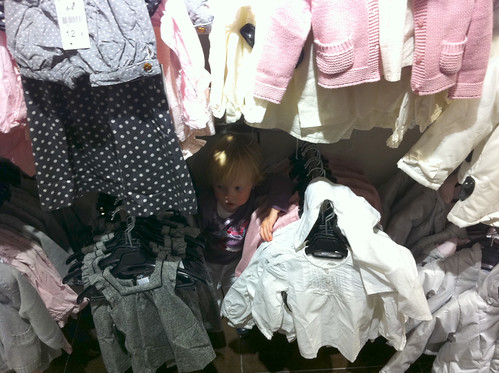 Shopping with Nora: where'd she go now?