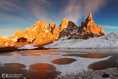 Tramonto Di Ghiaccio v.2, Dolomiti / Ice Sunset v.2, Dolomites - Italy (Enrico Grotto) Tags: sunset mountain snow color reflection ice landscape san soft italia tramonto nuvole pano pale campanile 09 cielo lee panoramica nd neve trento cristo nikkor sole grad acqua autunno colori riflessi alpi paesaggi montagna martino luce paesaggio trentino dolomiti vanguard 1224 cerchi ghiaccio baita nubi pensante trakking segantini castrozza d40 cluod nikkor1224 focobon cimon paneveggio vezzana grottoenrico costazza buraloni wobdersofnature