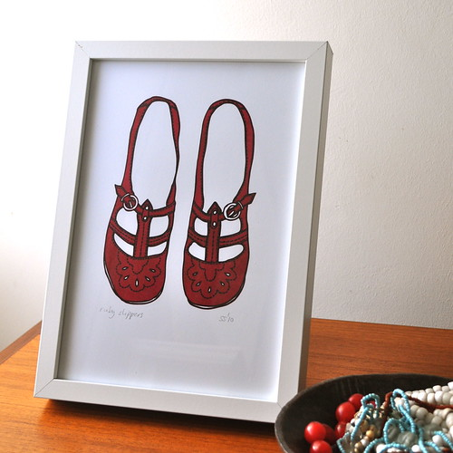 Ruby Slippers framed