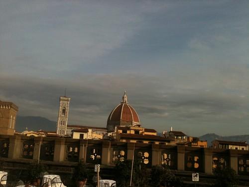 Florence skyline seen from Uffizi patio