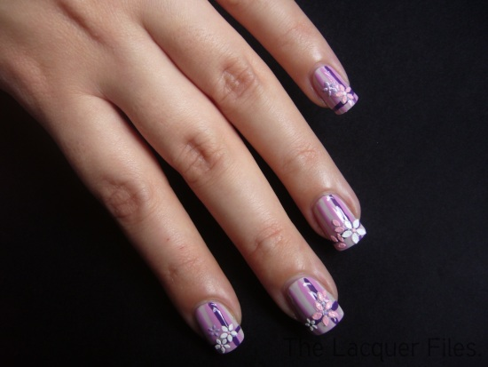 Flower Nail Art Stickers Sparkly Nails Striper Brush