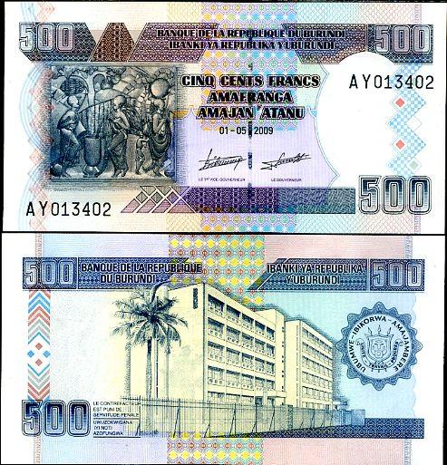 500 Frankov Burundi 2009