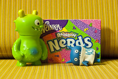 "Uglyworld #859 - ""Ha Ha Ha, Nerds!"" (314-365) (www.bazpics.com) Tags: nerd dave project friend funny candy sweet humor like humour supermarket mirth nerds sweeties laughter taste 365 wonka uglydolls 2010 icebat davidhorvath barryoneilphotography"
