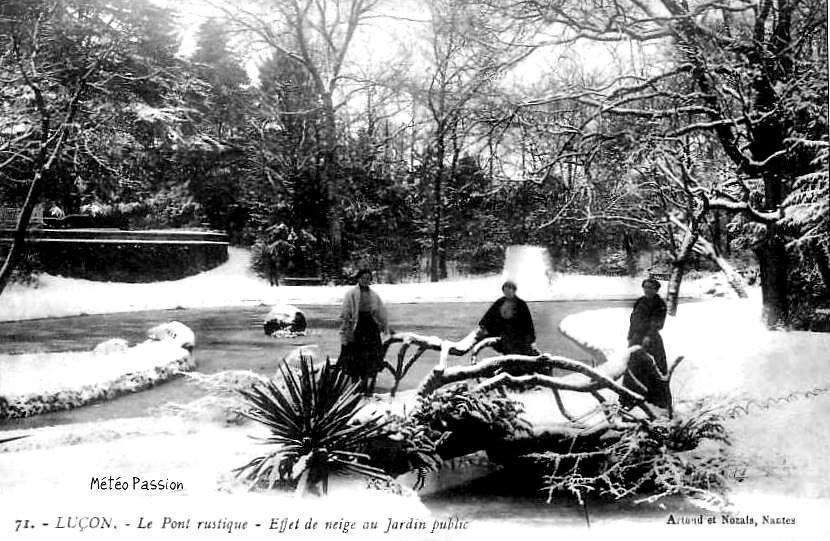 neige et glace à Luçon en Vendée pendant l'hiver 1914